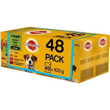 Pedigree Vital Protection kapsička masový výběr se zeleninou ve šťávě pro dospělé psy 48 × 100 g - Kapsička pro psy