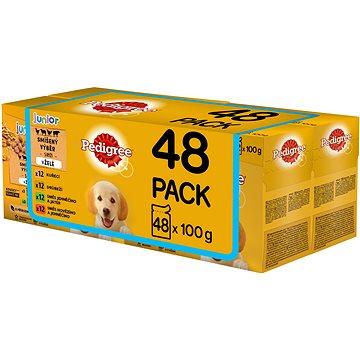 Pedigree Vital Protection kapsička pro štěňata masový výběr s rýží v želé 48 × 100 g - Kapsička pro psy