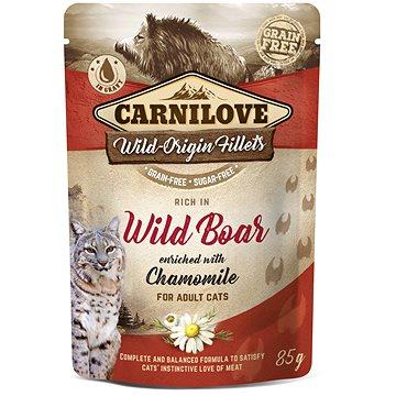 Carnilove Cat Pouch Rich in Wild Boar Enriched with Chamomile 85 g - Kapsička pro kočky