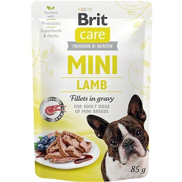 Brit Care Mini Lamb Fillets in Gravy 85 g - Kapsička pro psy