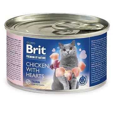 Brit Premium by Nature Chicken with Hearts200 g - Konzerva pro kočky