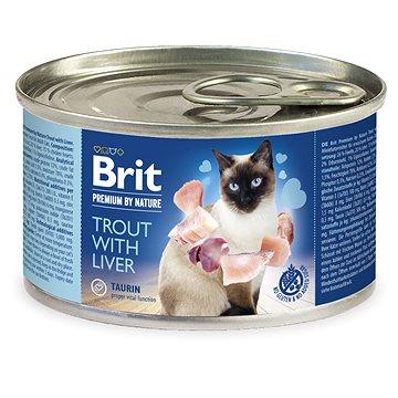 Brit Premium by NatureTrout with Liver 200 g - Konzerva pro kočky