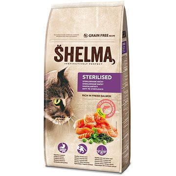 Shelma granule FM kočka sterilní losos 8 kg - Granule pro kočky