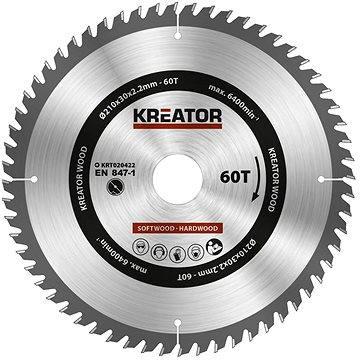 Kreator KRT020422, 210mm - Pilový kotouč na dřevo