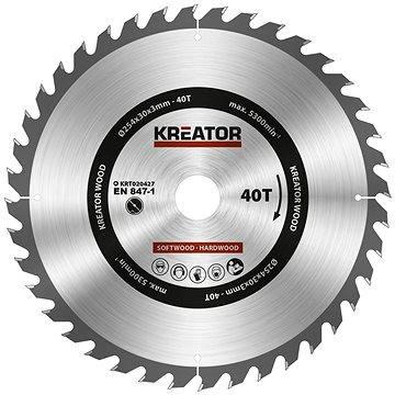 Kreator KRT020427, 254mm - Pilový kotouč na dřevo