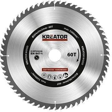 Kreator KRT020428, 254mm - Pilový kotouč na dřevo