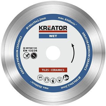 Kreator KRT081103, 180mm - Diamantový kotouč