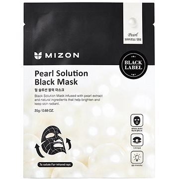 MIZON Pearl Solution Black Mask 25 g - Pleťová maska