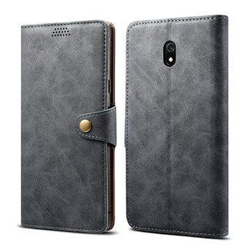 Lenuo Leather pro Xiaomi Redmi 8A, šedá - Pouzdro na mobil