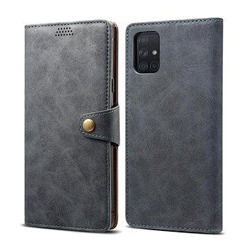 Lenuo Leather pro Samsung Galaxy A51, šedá  - Pouzdro na mobil