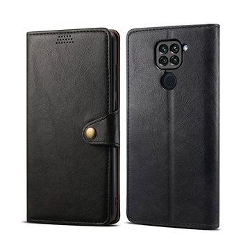 Lenuo Leather pro Xiaomi Redmi Note 9, černé - Pouzdro na mobil