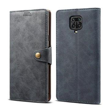 Lenuo Leather pro Xiaomi Redmi Note 9 Pro/ Note 9S, šedé - Pouzdro na mobil