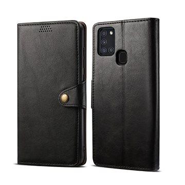 Lenuo Leather pro Samsung Galaxy A21s, černá - Pouzdro na mobil