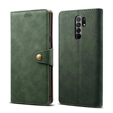 Lenuo Leather pro Xiaomi Redmi 9, zelená - Pouzdro na mobil