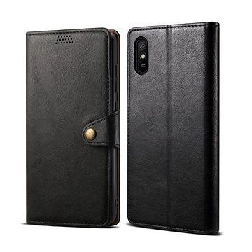 Lenuo Leather pro Xiaomi Redmi 9A, černá - Pouzdro na mobil