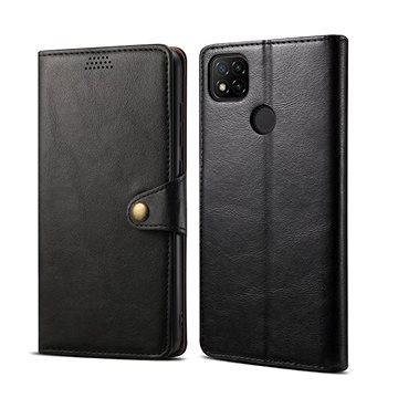 Lenuo Leather pro Xiaomi Redmi 9C, černá - Pouzdro na mobil