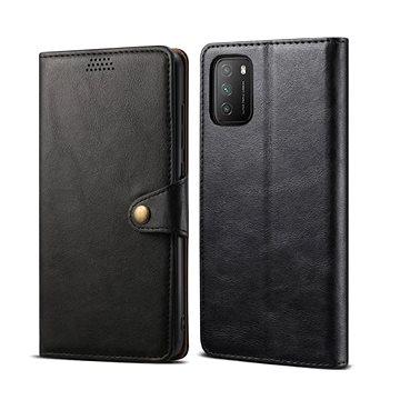 Lenuo Leather pro Xiaomi Poco M3, černé - Pouzdro na mobil