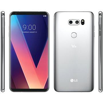 LG V30 ThinQ Cloud Silver - Mobilní telefon