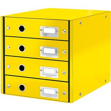 Leitz Click & Store WOW, 4dílný, žlutý - Zásuvkový box