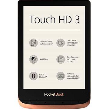 PocketBook 632 Touch HD 3 Spicy Copper - Elektronická čtečka knih