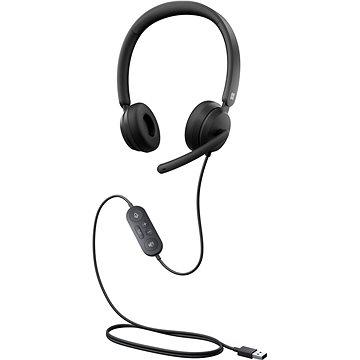 Microsoft Modern USB Headset, Black - Sluchátka