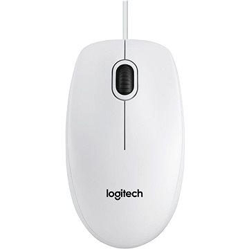 Logitech B100 Optical USB Mouse bílá - Myš