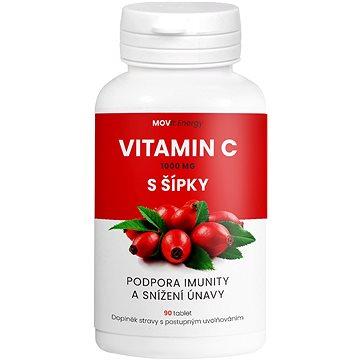 MOVit Vitamin C 1000 mg s šípky, 90 tablet - Vitamín C