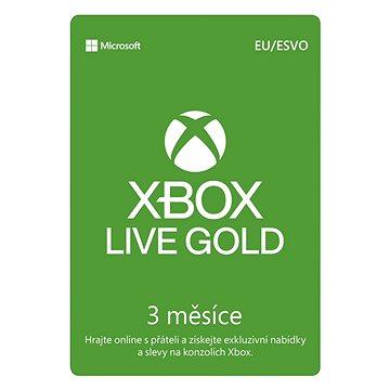 Xbox Live Gold - 3 měsíční členství - Dobíjecí karta