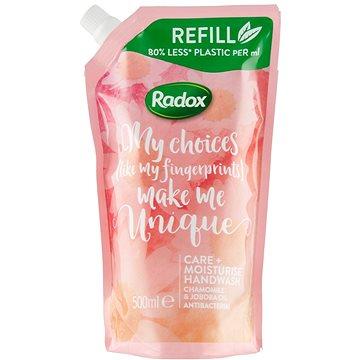 Radox Care + Moisturise tekuté mýdlo náhradní náplň 500ml - Tekuté mýdlo