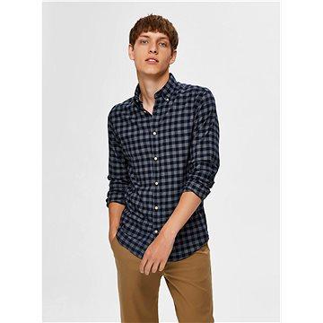 Tmavě modrá kostkovaná košile Selected Homme Flannel L - Košile