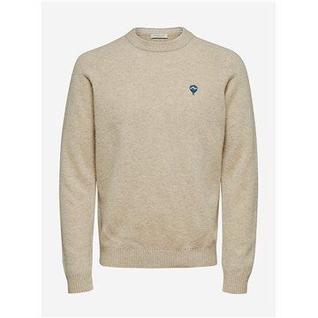 Béžový vlněný svetr Selected Homme XL - Svetr