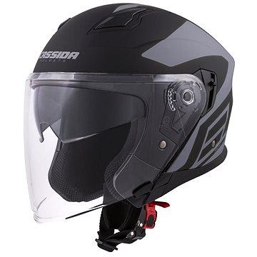 CASSIDA Jet Tech Corso, (černá matná/šedá, vel. XS) - Helma na motorku
