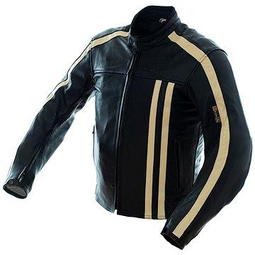 Cappa Racing STRIPES kožená černá/béžová XXXL - Bunda na motorku