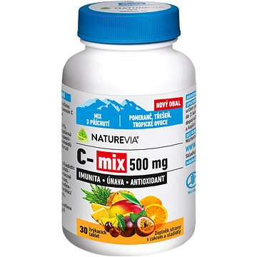 Swiss NatureVia® C-MIX 500mg žvýkací tbl.30 - Vitamín C