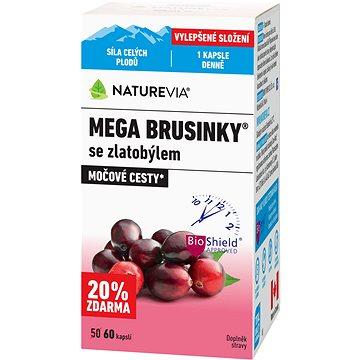 Swiss NatureVia® Mega brusinky 60 kapslí - Brusinky