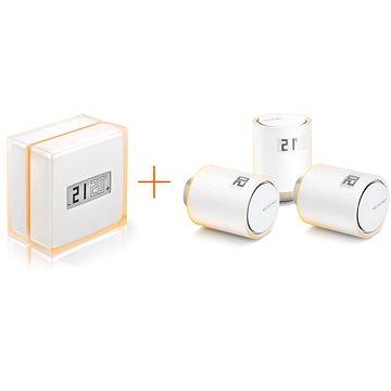 Netatmo Smart Thermostat + 3 Smart Radiator Valves - Chytrý termostat
