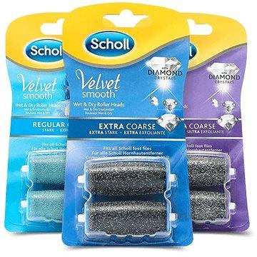 SCHOLL Velvet Smooth Rotační hlavice 3 × balení - Náhradní hlavice