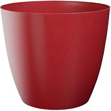 Obal na květník ELLA plastový červený lesklý d11x10cm - Obal na květináč