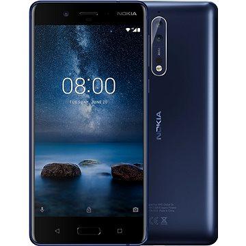 Nokia 8 Single SIM Tempered Blue - Mobilní telefon