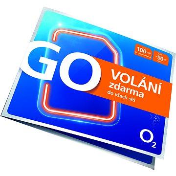 O2 Předplacená karta GO Volání Zdarma - SIM karta