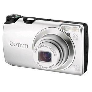 Canon PowerShot A3200 stříbrný - Digitální fotoaparát