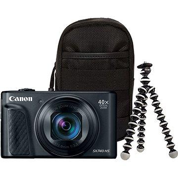 Canon PowerShot SX740 HS černý Travel kit - Digitální fotoaparát