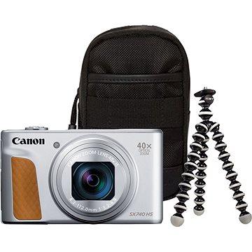 Canon PowerShot SX740 HS stříbrný Travel kit - Digitální fotoaparát