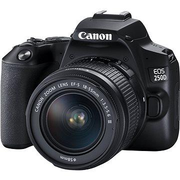Canon EOS 250D černý + EF-S 18-55 mm f/3,5-5,6 DC III - Digitální fotoaparát