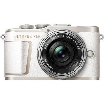 Olympus PEN E-PL10 bílý + Pancake Zoom Kit 14-42 mm stříbrný - Digitální fotoaparát