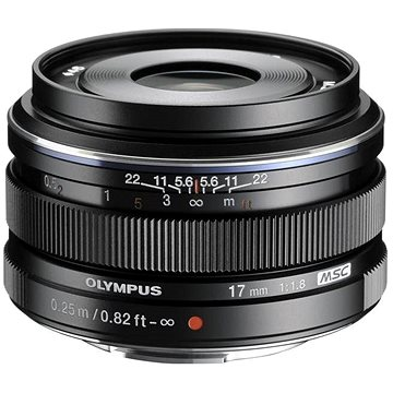 M.ZUIKO DIGITAL 17mm black f/1.8 - Objektiv