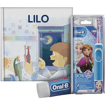Oral-B Vitality Kids Frozen + Oral-B zubní pasta + knížka - Elektrický zubní kartáček pro děti