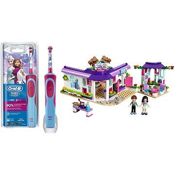 Oral-B Vitality Kids D12K Frozen + LEGO Friends 41336 Emma a umělecká kavárna - Sada