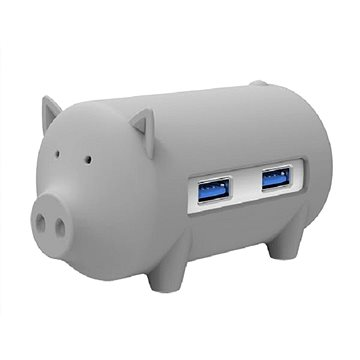 ORICO Piggy 3x USB 3.0 hub + SD card reader grey - USB Hub