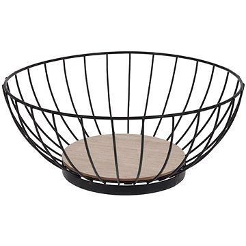 Košík na ovoce kov/dřevo pr. 28 cm  - Koš